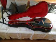 Gitarre 6 saitig mit Koffer