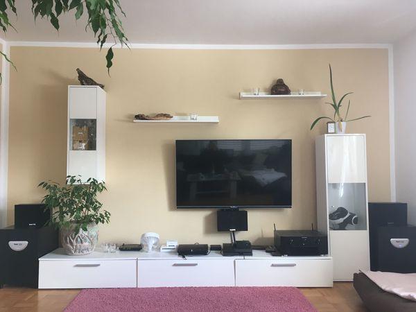 zu verschenken: Wohnzimmer Schrank, weiß, 5-teilig in München ...