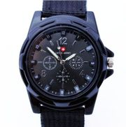 Sportlich moderne Armbanduhr -Edelstahl - schwarz -