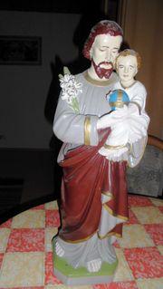Statue Heiliger Josef mit Christuskind