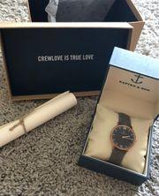 Black Grey Vintage Leather Uhr
