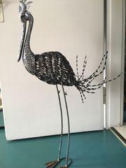 Stelzenvogel Deko für Garten