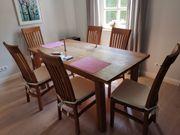Esstisch Teakholz und 6 Stühle
