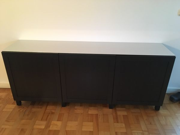 Credenza Ikea Serie Leksvik : Ikea sideboard mit glasplatte in laboe möbel kaufen und