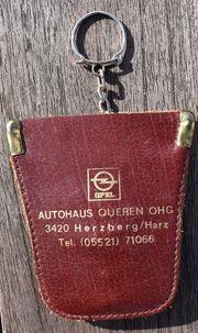 Altes OPEL Etui Schlüsselmäppchen Schlüsselanhänger
