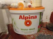 Wandfarbe ungeöffnet Alpina Wohnweiß