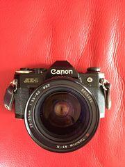 Canon Spiegelreflexcamera AE-1 mit Tokina