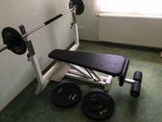 Hantelbank mit Gewichten 125KG Olympiastange
