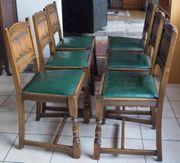 6 Stühle Stuhlgruppe Jugendstil Art