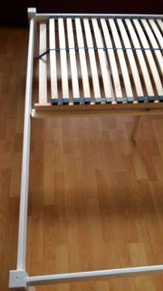 Bett - weiß - Kiefer 180x200 cm