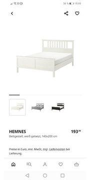 Ikea Hemnes Bettgestell 140x200 cm