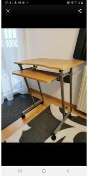PC Tisch m Rollräder Schreibtisch