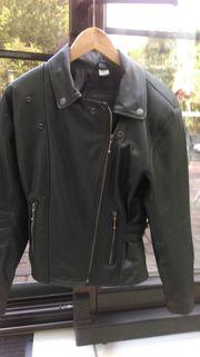 Motorrad Lederjacke schwarz Größe S