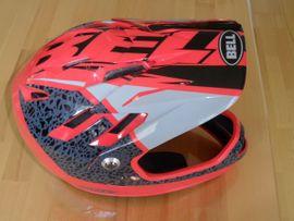 Fullface Helm Bell rot grau: Kleinanzeigen aus Singen - Rubrik Fahrradzubehör, -teile