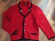 Trachten-Walk-Jacke rot Gr 104 110