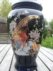 Deckelvase Vase mit Deckel Schwarz