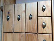 Massivholz Schubladenkommode Apothekerschrank Sideboard