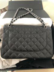 Chanel Jumbo Flap Bag Silber