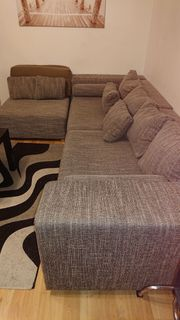 Couchgarnitur mit Schlaffunktion und 2