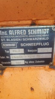 Schneepflug Schmidt