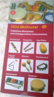 Mini - Orchester mit 8 Instrumenten