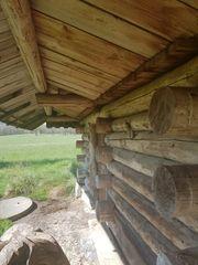 Blockhütte als Stall zu verkaufen