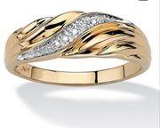 Ring mit Strasssteine Modeschmuck Vergoldet