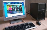 PC Computer komplett mit Monitor