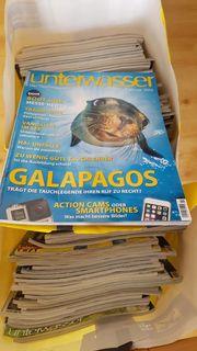 60 Zeitschriften Magazine Unterwasser von