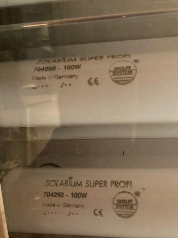 Solarium Leuchtstoffröhren plus passender Sicherung