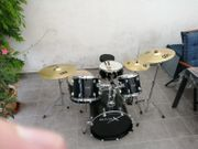 Schlagzeug Basix Oxygen Black Set
