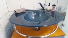 Bild 4 - Glaswaschbecken in elegantem Blau incl - Fürth Poppenreuth