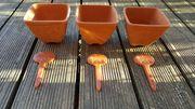 3 Kräutertöpfe aus Terracotta