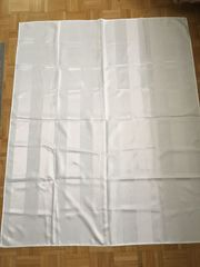 Tischdecke Läufer weiß elegant Streifen