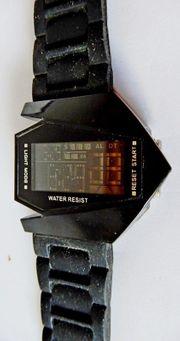 Top Optik LED-Armbanduhr Bomber-Optik Multifunktion