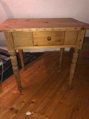 Antik Holz Tisch Esstisch Mit