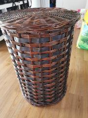 Wäschekorb Holz braun
