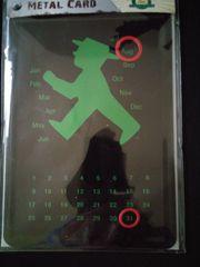 Ampelmännchen Dauerkalender Metall