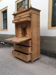 Schrak Vintage Naturholz Sekretär Landhausmöbel