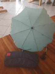 Sonnenschirm und Handwärmer für den