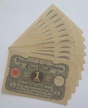 Banknoten 1 Mark Darlehnskassenschein 10