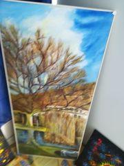 Landschaftsbild mit Baum
