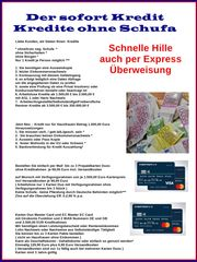 Ohne Schufa- Geld u Karte m
