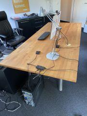 Schreibtisch Kirschholz massiv 100x75x220 cm