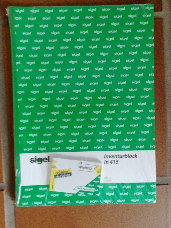 Inventurblock A4 Sigel In415 neu