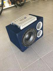 Bassbox inkl 4-Kanal Verstärker 240