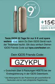 IQOS Testangebot für 9 inkl