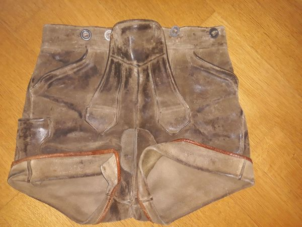 Trachten-Lederhose kurz Short gebraucht in