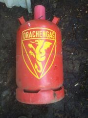 Leere Drachen Gas Flasche