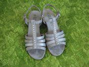 Damen Sandalen 37 Grau Silber